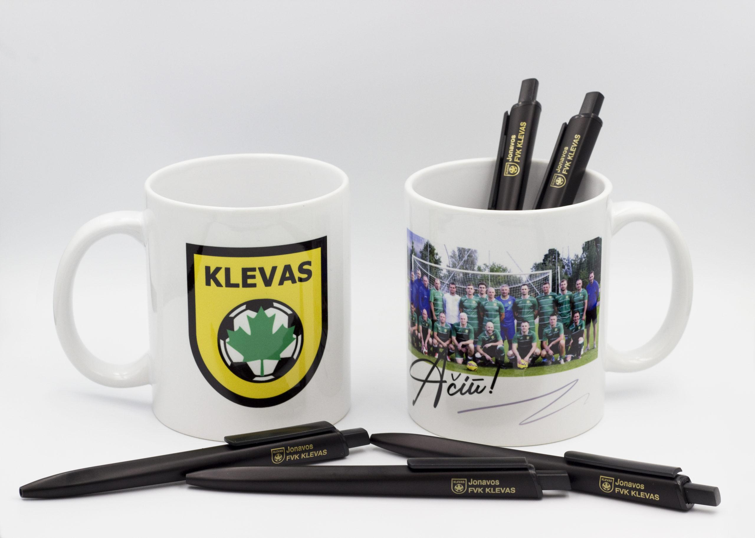 Padovanok prisiminimą – individualaus dizaino puodeliai ir rašikliai